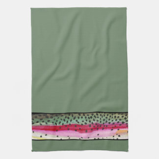 Cool Rainbow Trout Skin Fisherman's Tea Towel
