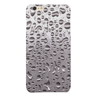Cool Raindrops on Metal Stainless Steel Look