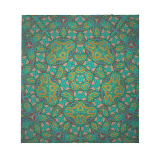 Cool Rainforest Green Print Notepad
