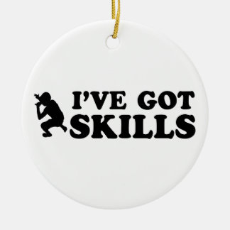 cool rap skills designs ceramic ornament