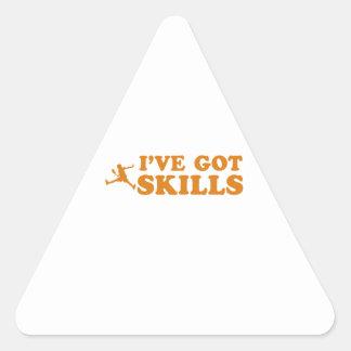 Cool raquetball skills designs triangle sticker