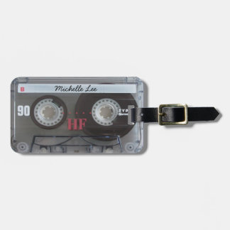 Cool real cassette tape lugguage tags