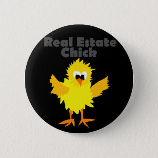 Cool Real Estate Chick Art 6 Cm Round Badge