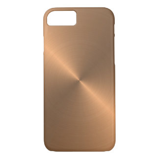Cool Realistic Metal Texture Polished Copper iPhone 8/7 Case