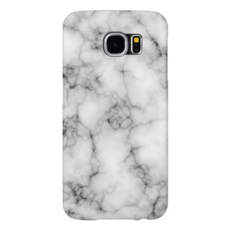 Cool Realistic White Marble Pattern Samsung Galaxy S6 Cases
