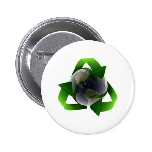 cool recycle logo buttons
