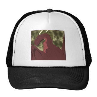 Cool Red And Yellow Dragon Mesh Hats