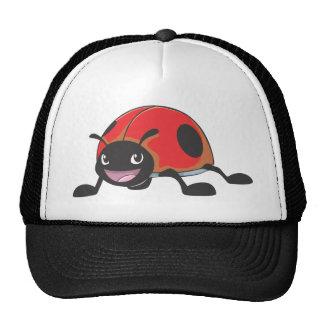 Cool Red Baby Ladybug Cartoon Trucker Hat