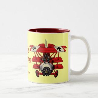 Cool red baron plane coffee mug