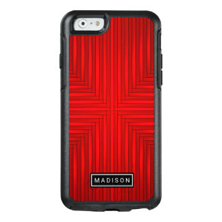 Cool Red Black Modern OtterBox iPhone 6/6s Case