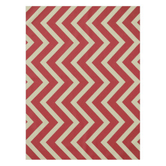 Cool red Burgundy taupe Chevron  tablecloth