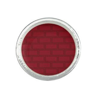 Cool Red Cartoon Bricks Wall Pattern