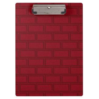 Cool Red Cartoon Bricks Wall Pattern Clipboard