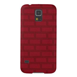 Cool Red Cartoon Bricks Wall Pattern Galaxy S5 Cover