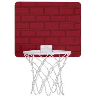 Cool Red Cartoon Bricks Wall Pattern Mini Basketball Hoop