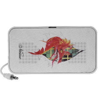 Cool Red Dragon in Scar tattoo Speakers