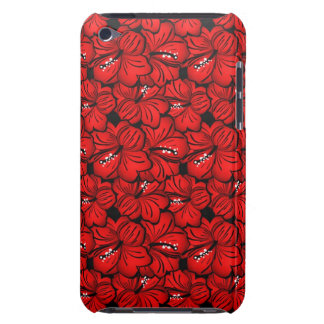 Cool red flowers iPod case Barely There iPod Cases