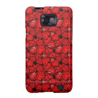 Cool red flowers Samsung case Samsung Galaxy SII Cover