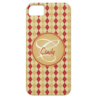 Cool Red Geeky Plaid Case For The iPhone 5