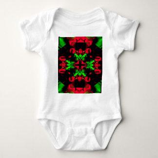 Cool Red Green Seasonal Christmas  Novel Pattern Baby Bodysuit