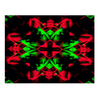 Cool Red Green Seasonal Christmas  Novel Pattern Postcard