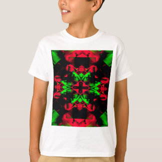 Cool Red Green Seasonal Christmas  Novel Pattern T-Shirt