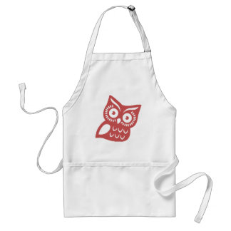 Cool Red Owl Adult Apron