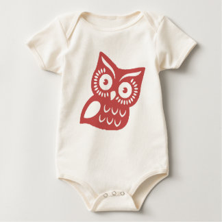 Cool Red Owl Baby Bodysuit