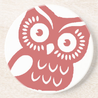 Cool Red Owl Coaster