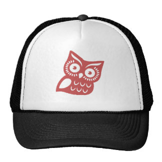 Cool Red Owl Trucker Hat