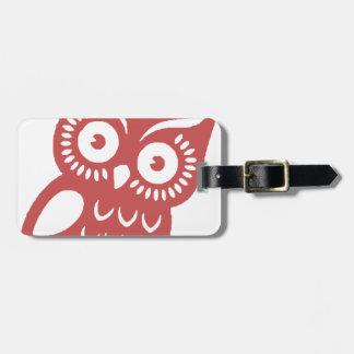 Cool Red Owl Luggage Tag