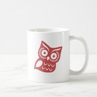 Cool Red Owl Mug