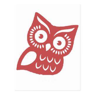 Cool Red Owl Postcard