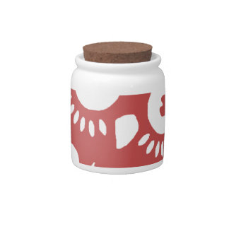 Cool Red Owl Ceramic Candy Jar