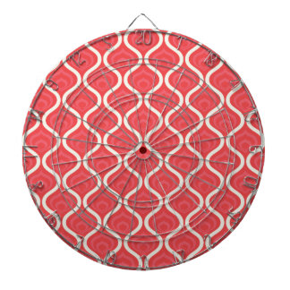 Cool Red Retro Pattern Dartboard