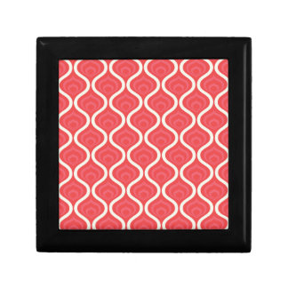 Cool Red Retro Pattern Jewelry Boxes