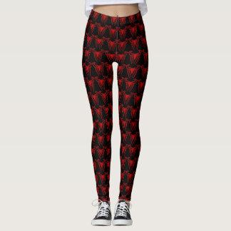 Cool Red Spider Pattern Custom Leggings