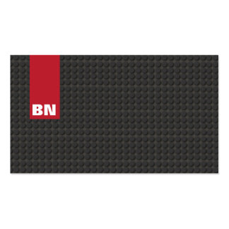 Cool Red Stripe Black Monogram Auto Automotive Pack Of Standard Business Cards