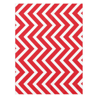 Cool red white Chevron  tablecloth