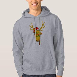 cool reindeers merry christmas men's hoodie