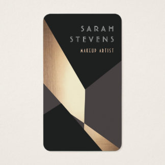 Cool Retro Abstract Black and Gold  Art Deco Business Card