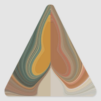 Cool Retro Abstract Graphic colorful Matata strand Triangle Sticker