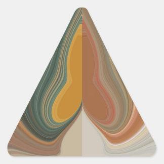 Cool Retro Abstract Graphic colorful Matata strand Triangle Sticker