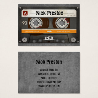 Cool Retro Audio Cassette | DJ Professional Business Card