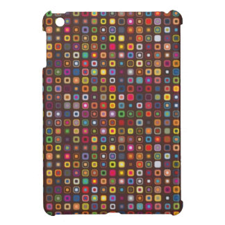 cool retro colourful squares pattern iPad mini cover