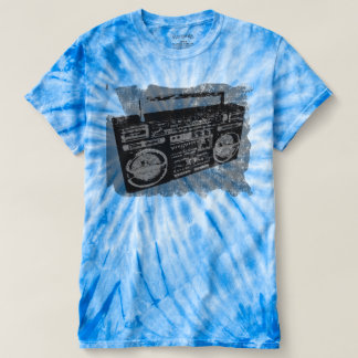 Cool Retro Distressed Boombox T-Shirt