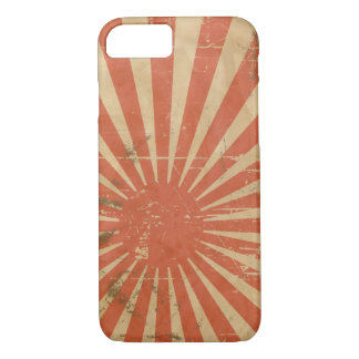 Cool retro Japanese Rising Sun. Vintage iPhone 8/7 Case