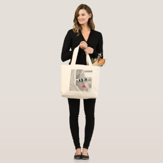 Cool Retro Jumbo Lady Face Graphic Tote For Shop
