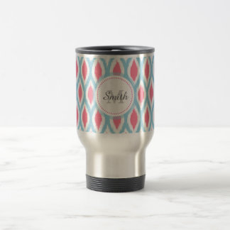 Cool retro monogram ornament geometric curve Ikat Coffee Mugs