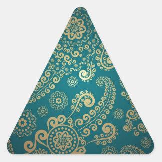 Cool retro pattern triangle sticker